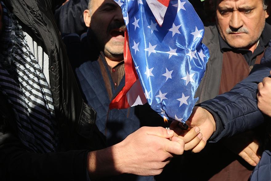 ABD'nin Kudüs kararı protesto edildi 1