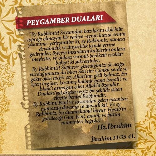 Peygamberlerin Kur'an'da geçen duaları 17