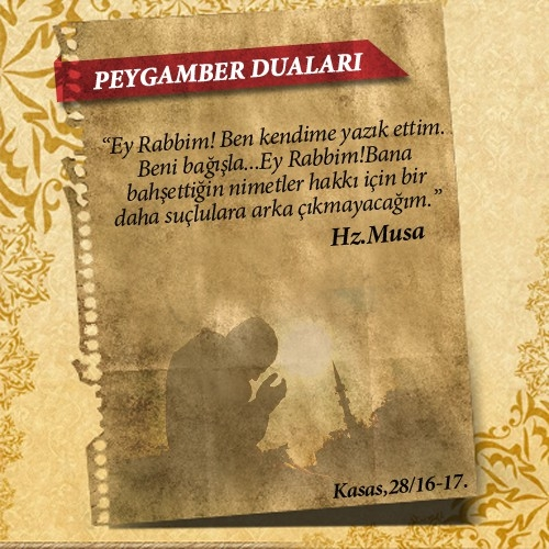 Peygamberlerin Kur'an'da geçen duaları 24