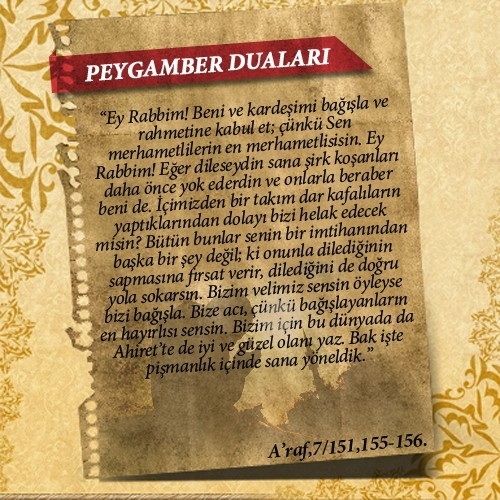 Peygamberlerin Kur'an'da geçen duaları 32