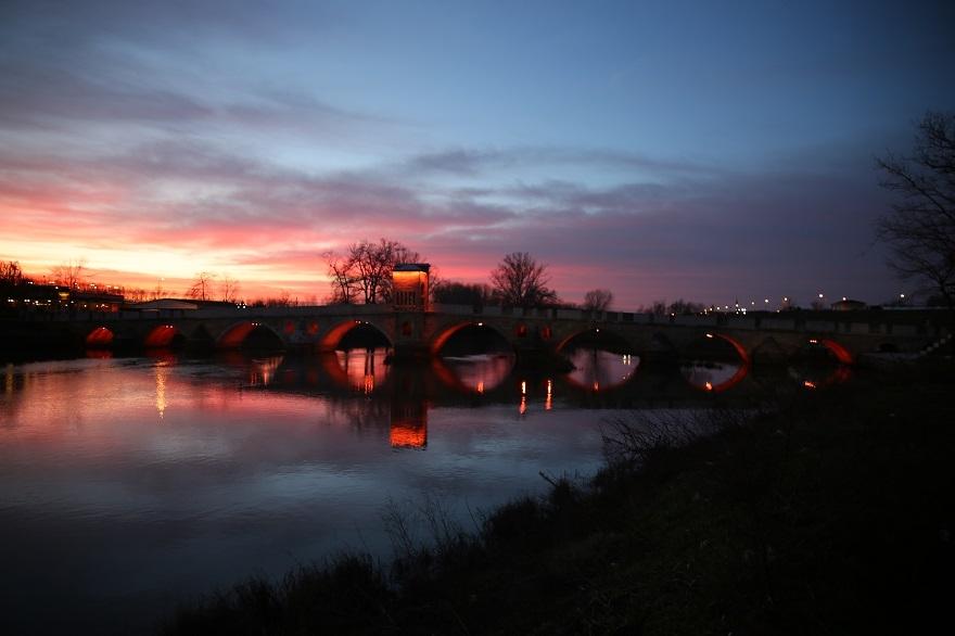 Tunca Nehri'nde gün batımı 1