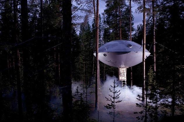 Birbirinden harika ağaç evler 17