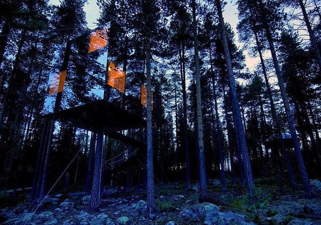 Birbirinden harika ağaç evler 8
