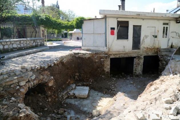 Kanalizasyon kazarken tarih çıktı! 8