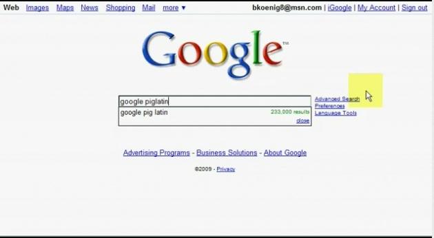Google aramasında eğlenceli sürprizler 15