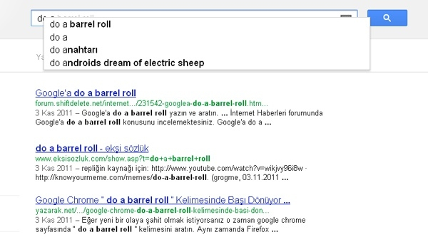 Google aramasında eğlenceli sürprizler 2