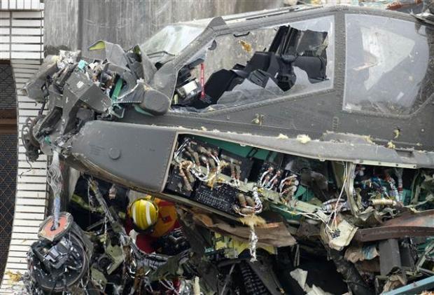 Tayvan'da helikopter çatıya çarptı 2