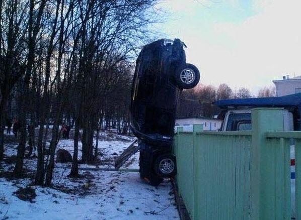 Dünyanın en ilginç trafik kazaları 21