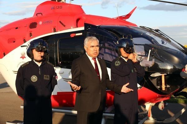 Ambulans helikopterler gece de uçabilecek 8