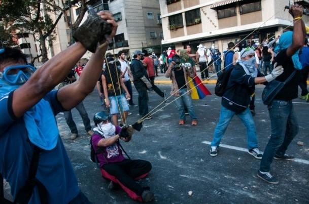 Venezuela'da Yönetim Karşıtı Gösteriler 1
