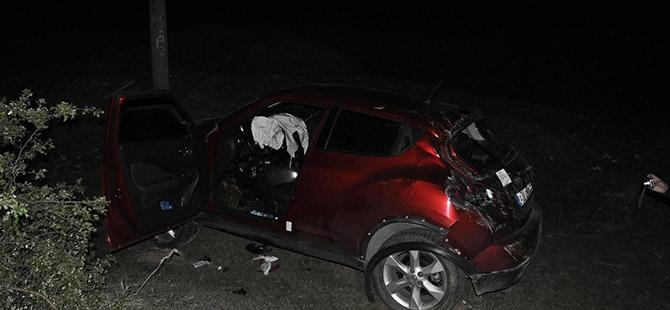 Otomobil köprüden düştü 6