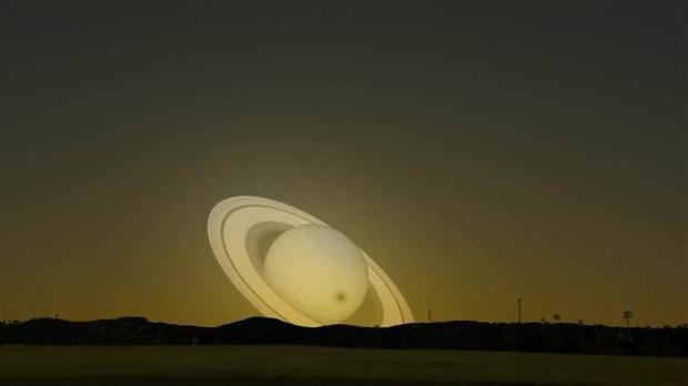 Satürn Dünya'nın yanından geçseydi 7