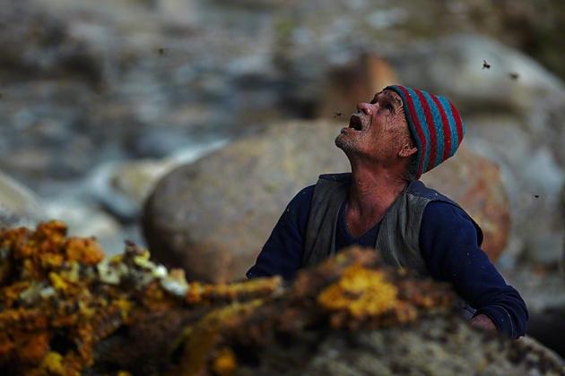 Nepal Yerlilerinin Arılarla Bal Savaşı 7