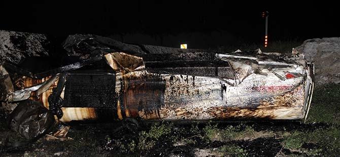 Tanker şarampole devrildi: 1 ağır yaralı 2