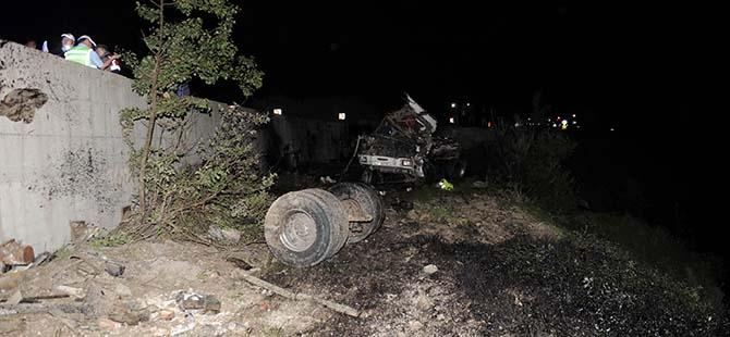 Tanker şarampole devrildi: 1 ağır yaralı 3