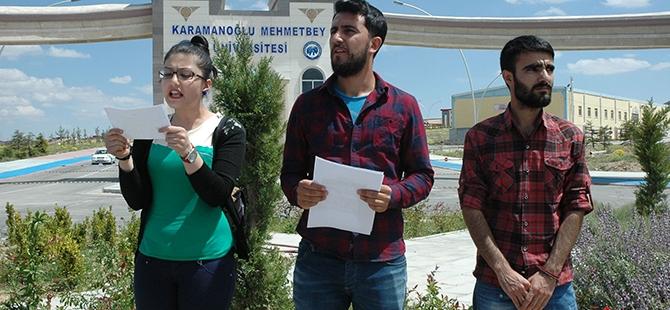 Öğrenciler bıçaklı kavgayı protesto etti 7