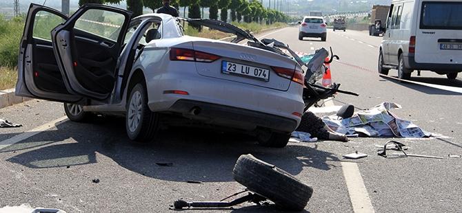 Elazığ'da trafik kazası: 2 ölü 5