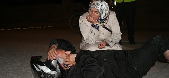 Yaralı eşinin yanından ayrılmadı 3