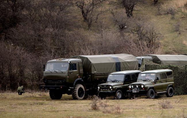 Rus askerler Kırım'a çadır kurdu! 2