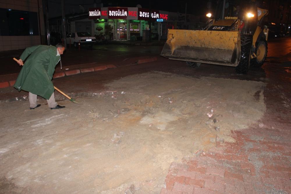 Beyşehir'de su baskınları yaşandı 14