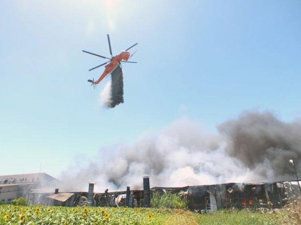 Hadımköy'de büyük yangın 10