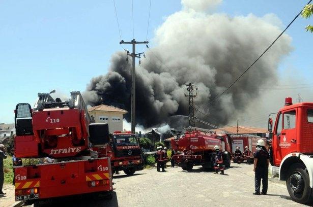 Hadımköy'de büyük yangın 11