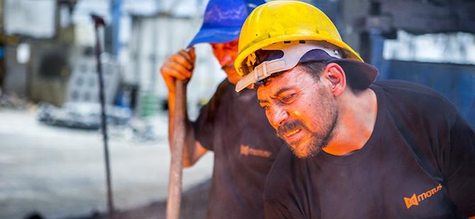 Döküm işçilerinin zor imtihanı 10