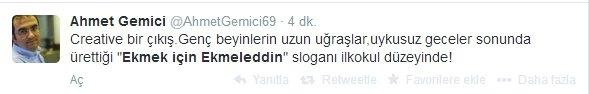 'Ekmek için Ekmeleddin' sloganı twitter'ı salladı 15