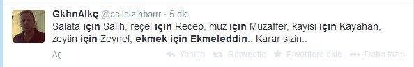 'Ekmek için Ekmeleddin' sloganı twitter'ı salladı 18
