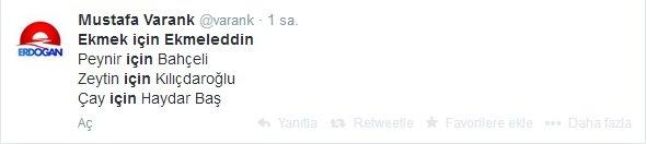 'Ekmek için Ekmeleddin' sloganı twitter'ı salladı 21
