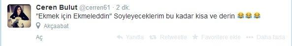 'Ekmek için Ekmeleddin' sloganı twitter'ı salladı 24