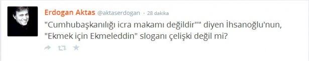 'Ekmek için Ekmeleddin' sloganı twitter'ı salladı 9