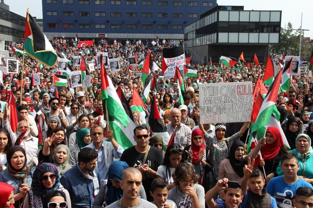 LAHEY'DE İSRAİL PROTESTOSU 3