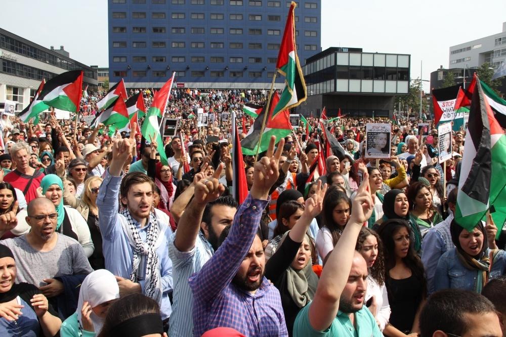 LAHEY'DE İSRAİL PROTESTOSU 8