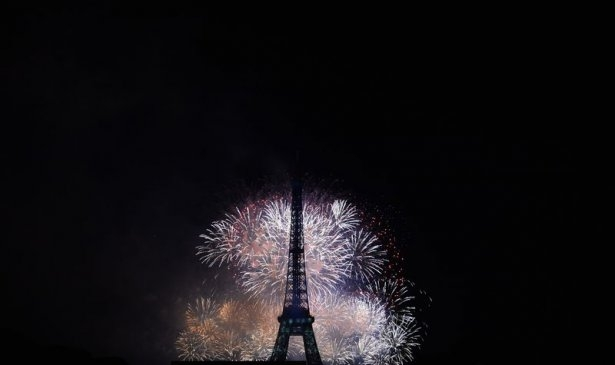 Paris'te havai fişek gösterisi 5
