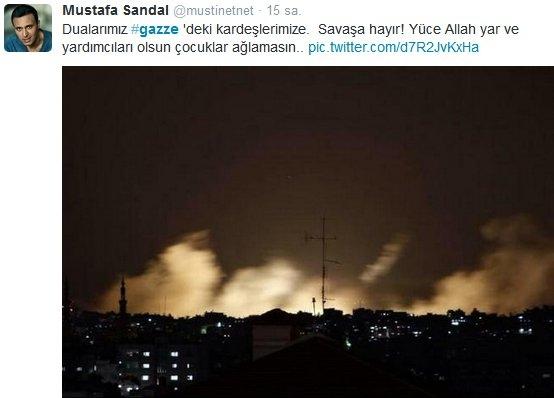 Ünlülerden Gazze'ye destek: Şerefsizler 31