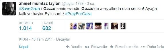 Ünlülerden Gazze'ye destek: Şerefsizler 38