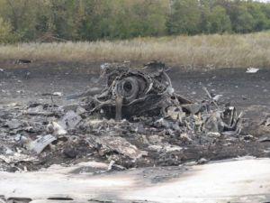 Ukrayna'da düşen yolcu uçağından görüntüler