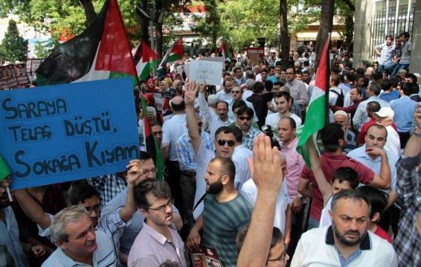 Yüzbinler Gazze için sokaklara döküldü 16
