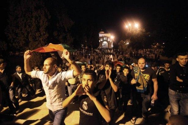 İstanbul'da binlerce kişi İsrail'i lanetledi 28