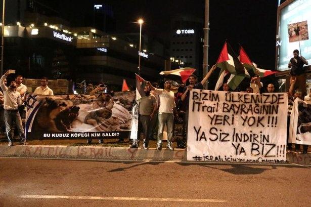 İstanbul'da binlerce kişi İsrail'i lanetledi 32