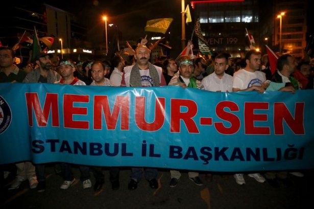 İstanbul'da binlerce kişi İsrail'i lanetledi 49