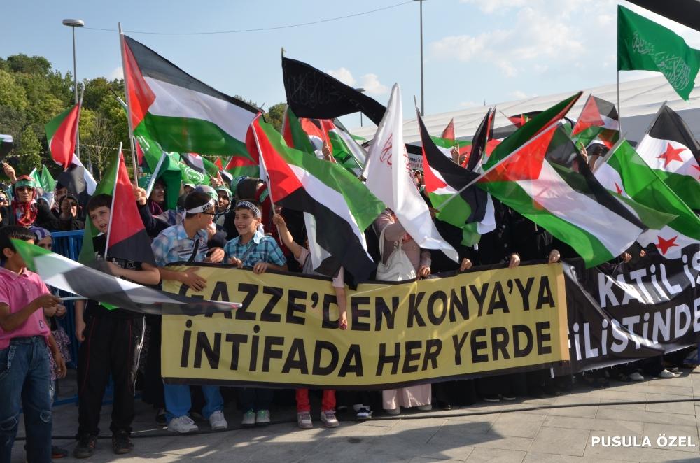 Konya'daki GAZZE mitingi 23