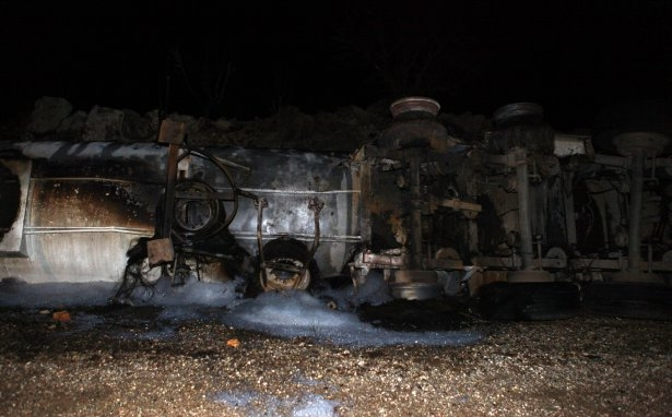 Lice'de LPG yüklü tanker patladı 12