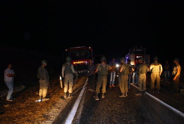 Lice'de LPG yüklü tanker patladı 13