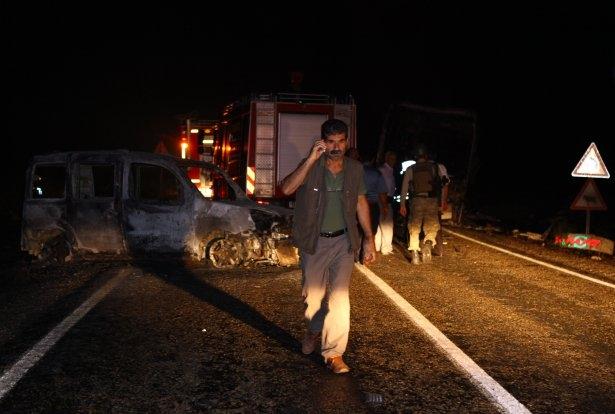 Lice'de LPG yüklü tanker patladı 5