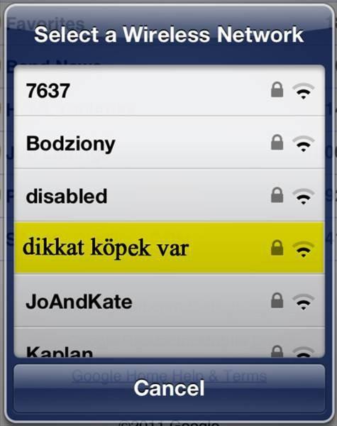 İşte en komik wifi isimleri 23