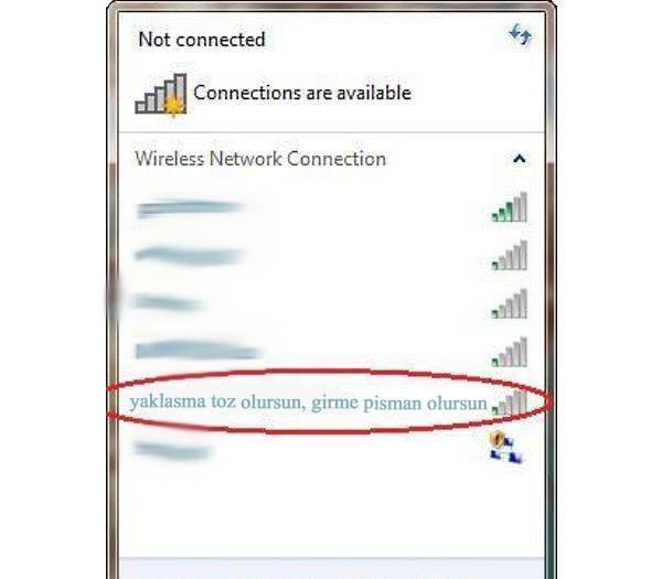 İşte en komik wifi isimleri 3