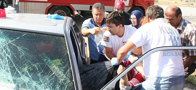 Konya'da İki Otomobil Çarpıştı: 1 Ölü, 3 Yaralı 2
