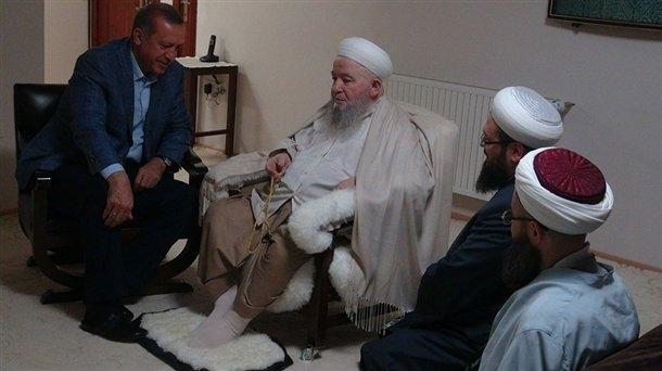 Erdoğan'dan Mahmut Efendi'ye ziyaret 2